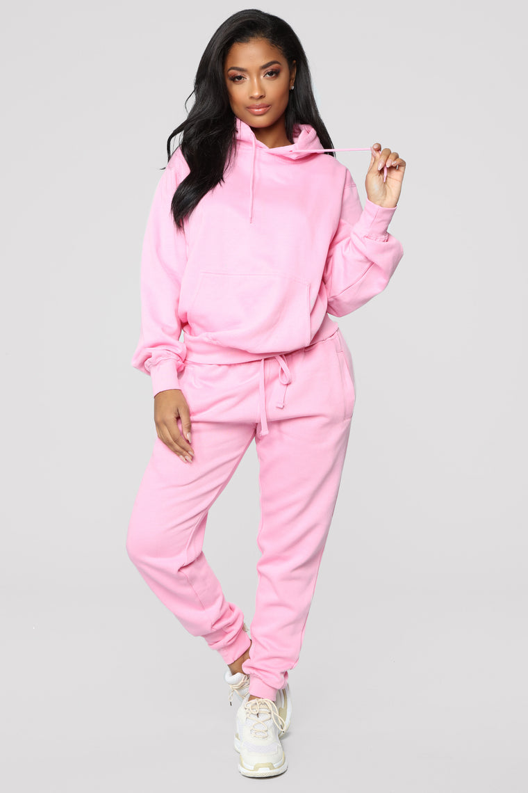 Stole Your Boyfriend's Oversized Jogger - Pink