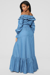Out Of Nowhere Dress - Light Blue