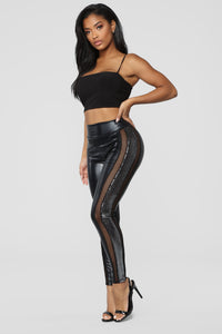 Fishing For Compliments Sequin Leggings - Black