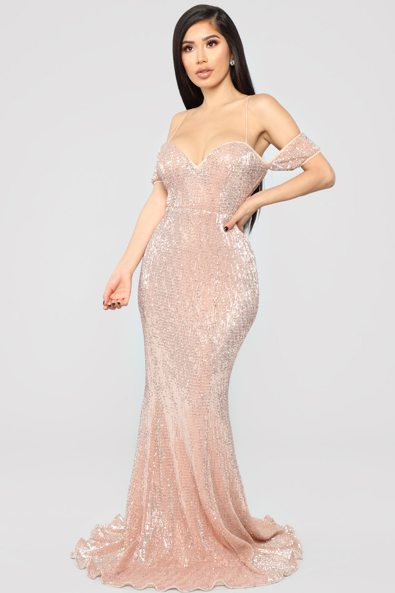 Rose Sequin Dress - RoseGold
