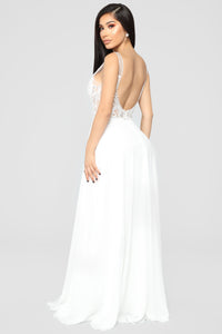 She Is Grace Embellished Gown - Off White