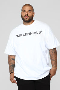 Year Of The Millennials Short Sleeve Tee - White Angle 6