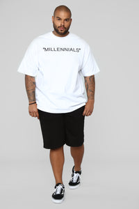 Year Of The Millennials Short Sleeve Tee - White Angle 8