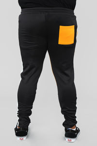Dustin Track Pants - Black/Yellow