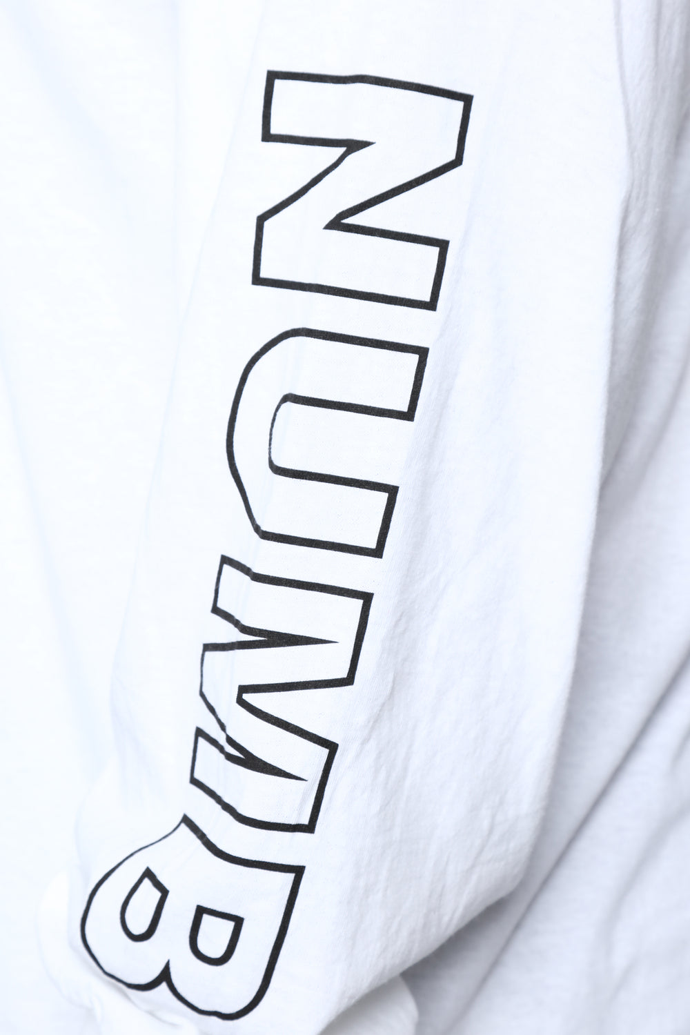 Life Is Numb LS Tee - White