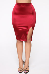 Camilla Puffed Sleeve Set - Red Angle 6