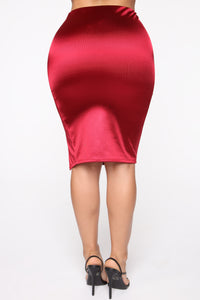 Camilla Puffed Sleeve Set - Red Angle 8