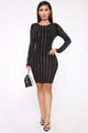 Join The Group Chat Sweater Dress - Black