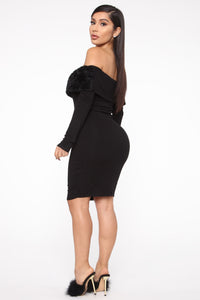 Sassy And Smart Mini Dress - Black