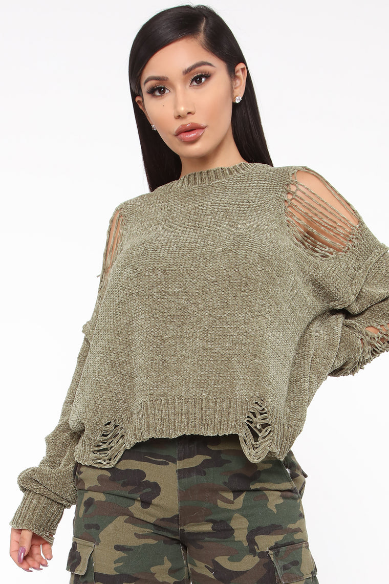 Like You A Latte Sweater   Olive by Fashion Nova