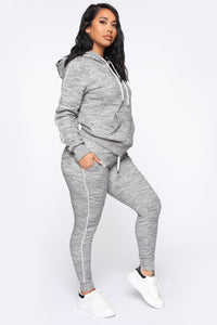 Tennis And Chill Fleece Pullover Hoodie - Heather Grey