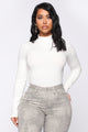 Mariah Long Sleeve Mock Neck Top - White