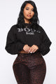 Boss Bitch Cropped Sweatshirt - Black