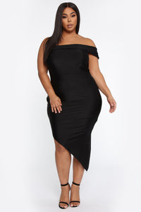 Just For Your Eyes Midi Dress - Black