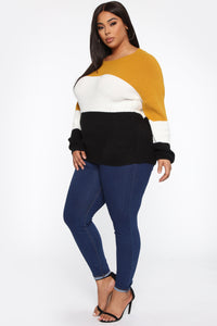 Tell Me More Sweater - Mustard/combo Angle 9