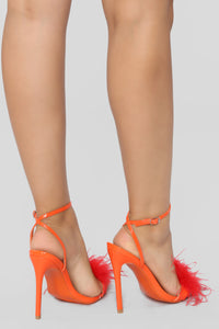 Listen Up Now Heeled Sandal - Orange