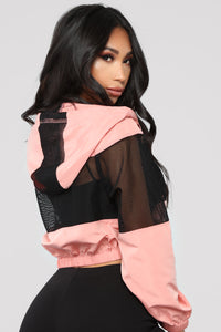 Come Through And Chill Jacket - Rose