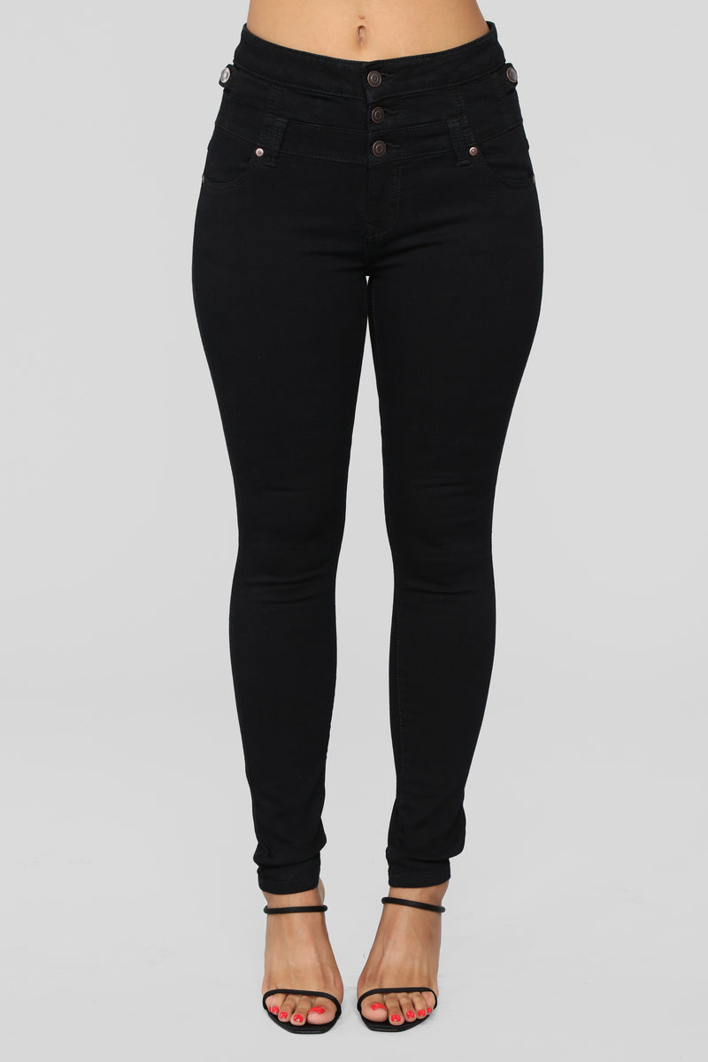 Two Lane Highway Skinny Jeans - Black