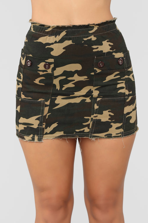 Cadet In Charge Skirt - Olive