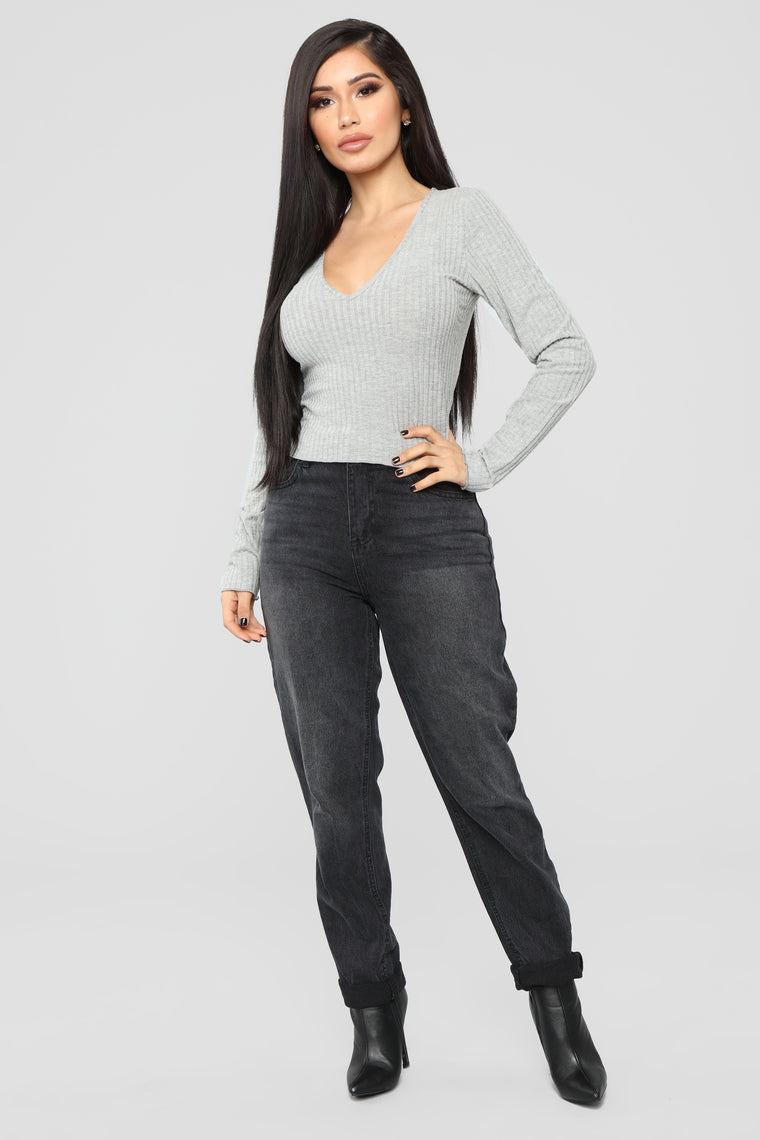 Go-To Long Sleeve Top - HeatherGrey