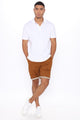 Too Much Twill Shorts - Brown