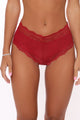 On The Daily Lace Hipster 3 Pack Panties - Red/combo
