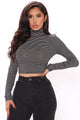 Your Baby Boo Crop Top - Black/White