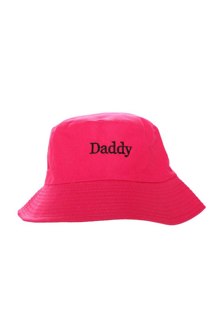 Daddy Embroidered Bucket Hat - Pink