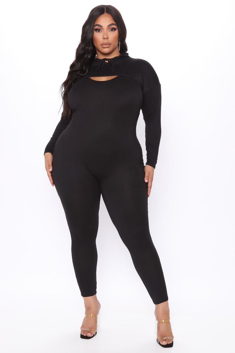 Did Us Well Hooded 2 Piece Jumpsuit - Black