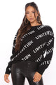 I'm Limited Edition Oversized Sweater - Black/White