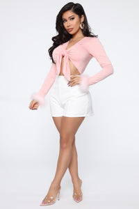 Love On My Mind Top - Blush