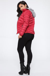 I Got This Puffer Jacket - Red Angle 5