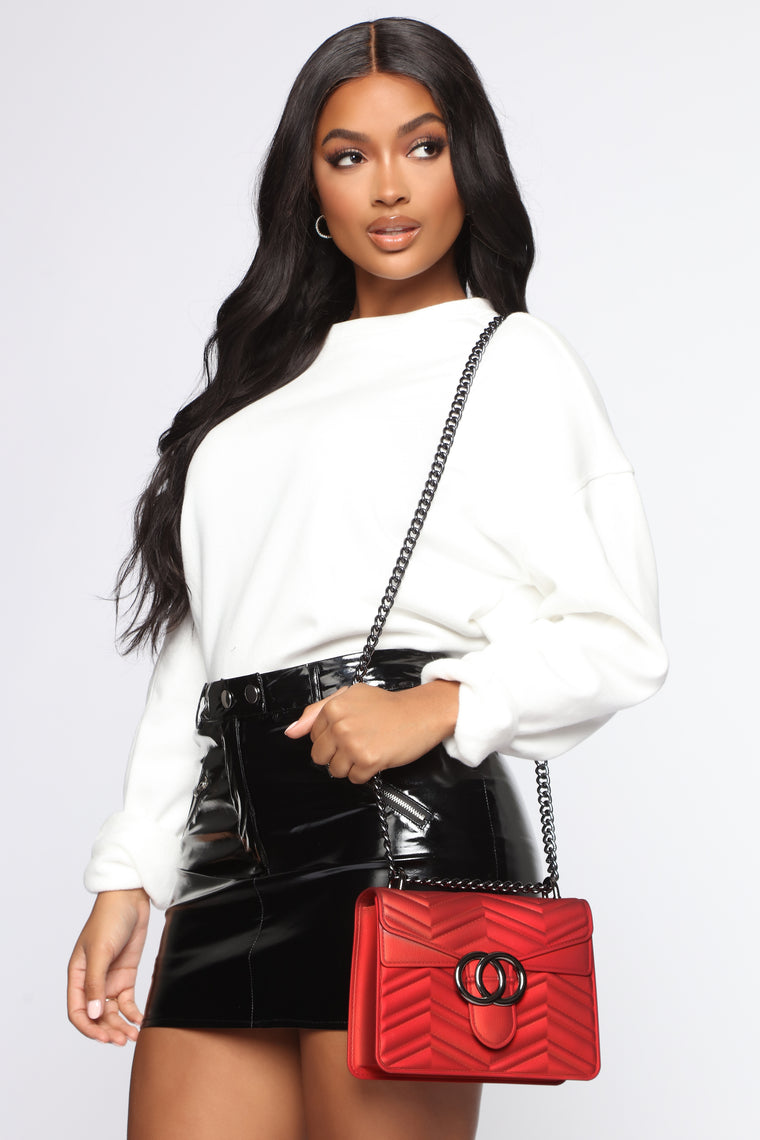 Christina Quilted Bag - Red