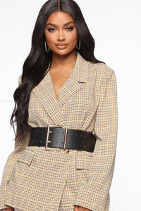 Lookin' Snatched Waist Belt - Black