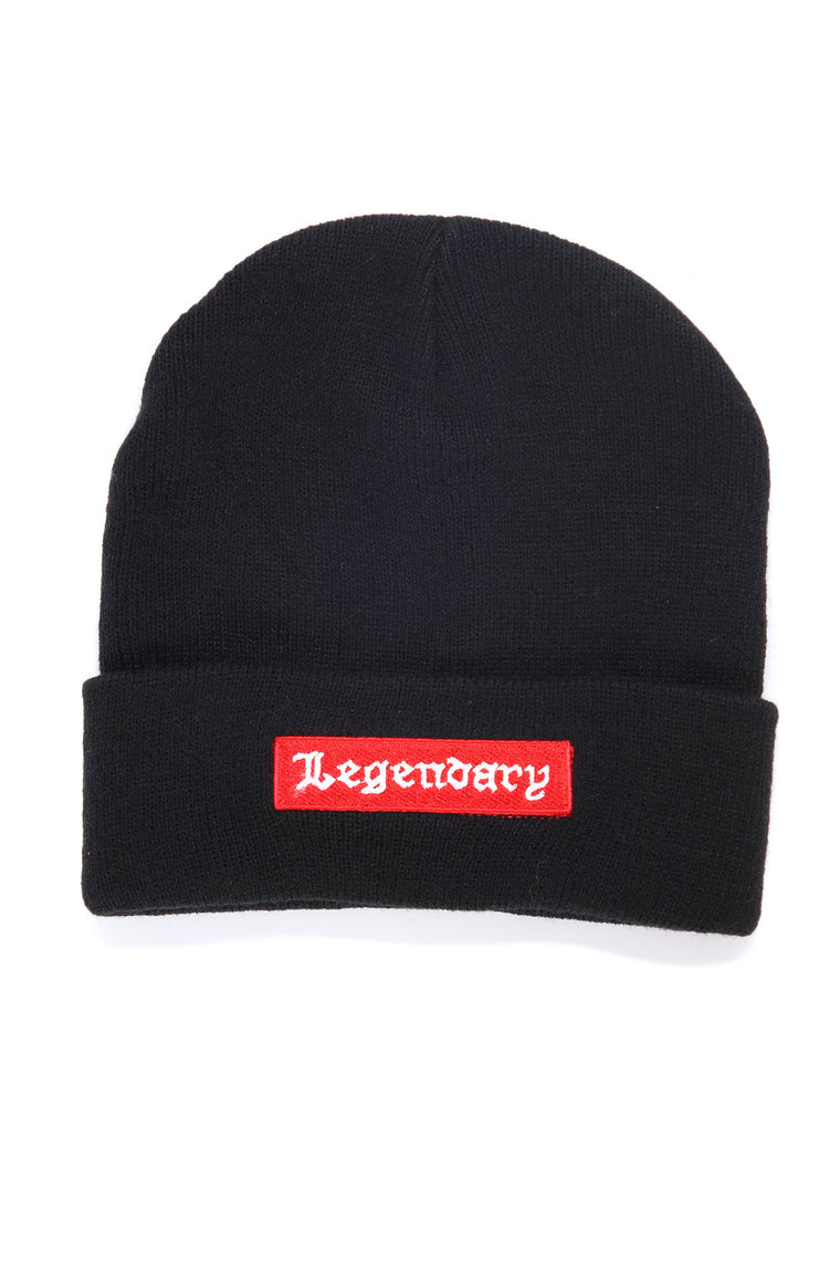 Legendary Embroidered Beanie - Black/Red