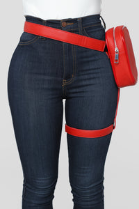 Next Level Harness Fanny Pack - Red Angle 1