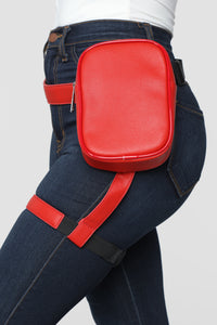Next Level Harness Fanny Pack - Red Angle 3