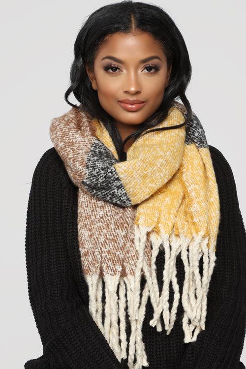 Luxe And Ready Scarf - Yellow