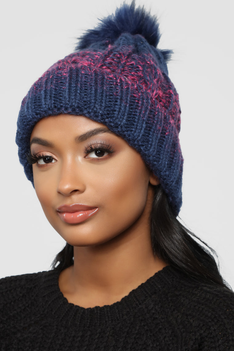 Keeping Me Warm Beanie - Blue/Purple