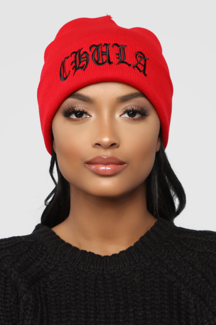 Chula Beanie - Red/Black