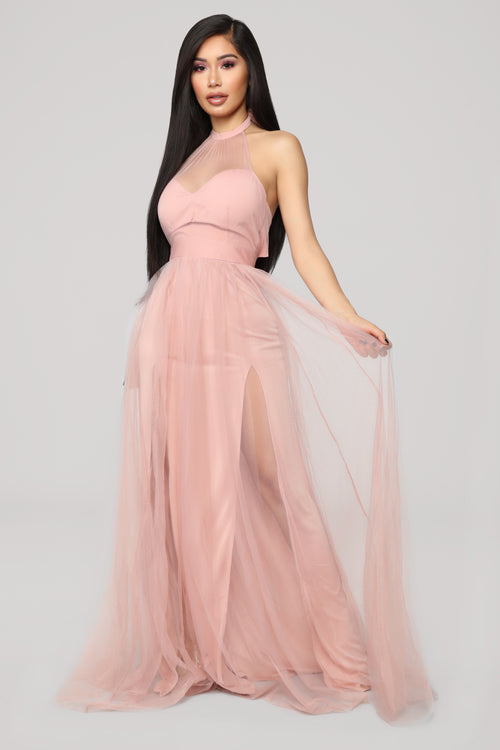 off the tulle gown blush