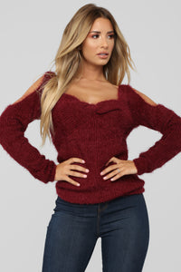 Second To None Sweater - Burgundy