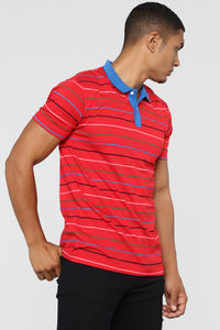 The Carter Short Sleeve Polo - Red
