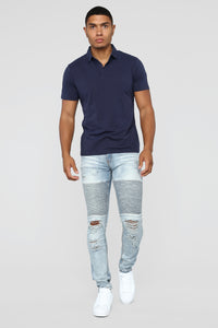 Certain Skinny Jeans - Medium Blue Wash Angle 2