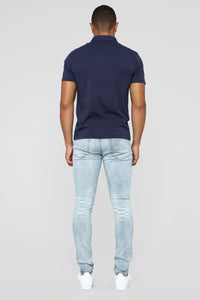 Certain Skinny Jeans - Medium Blue Wash Angle 6