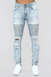 Certain Skinny Jeans - Medium Blue Wash Angle 1