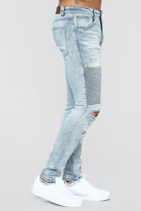 Certain Skinny Jeans - Medium Blue Wash Angle 3
