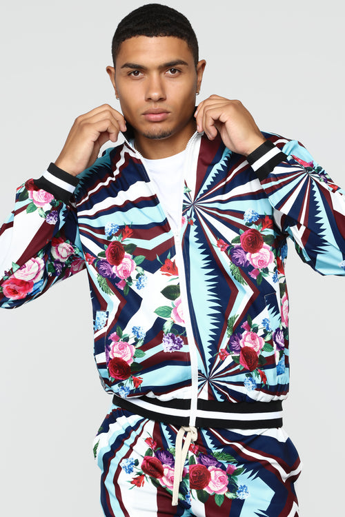 Rose Track Jacket - Blue/combo