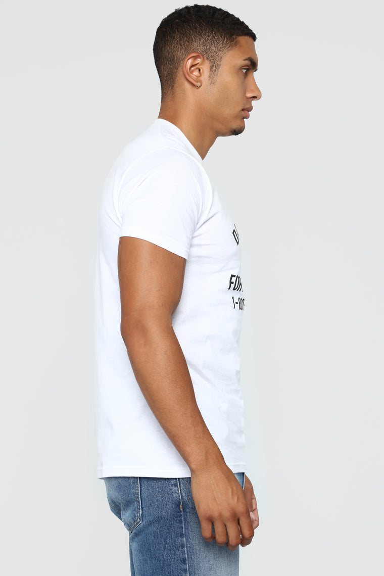 For A Good Time Short Sleeve Crew Tee - White