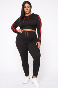 Tennis Courts II Set - Black/Red Angle 9
